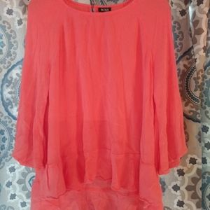 Ana Large Coral Colored Top